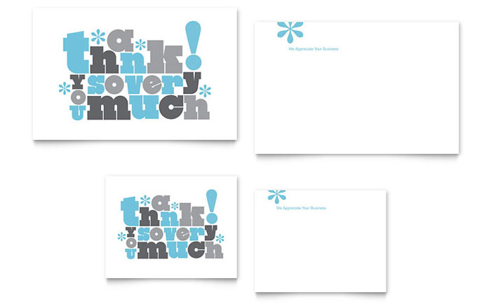 Thank You Very Much Note Card Template Word Publisher – Free Postcard Templates Microsoft Word