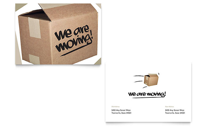 Were moving announcement template word publisher flashek Choice Image