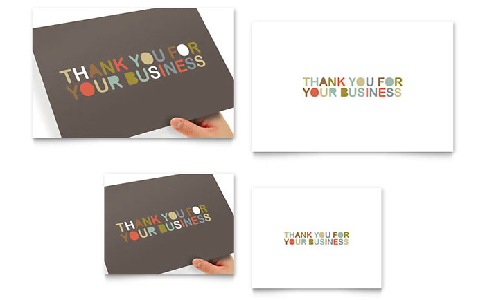 Thank you for your business note card template word publisher spiritdancerdesigns Image collections