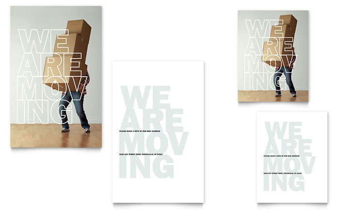 We'Re Moving Note Card Template - Word & Publisher