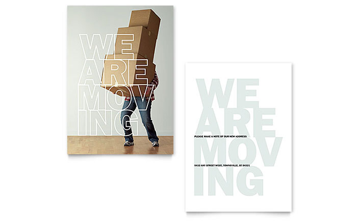 We're Moving Announcement Template - Word & Publisher