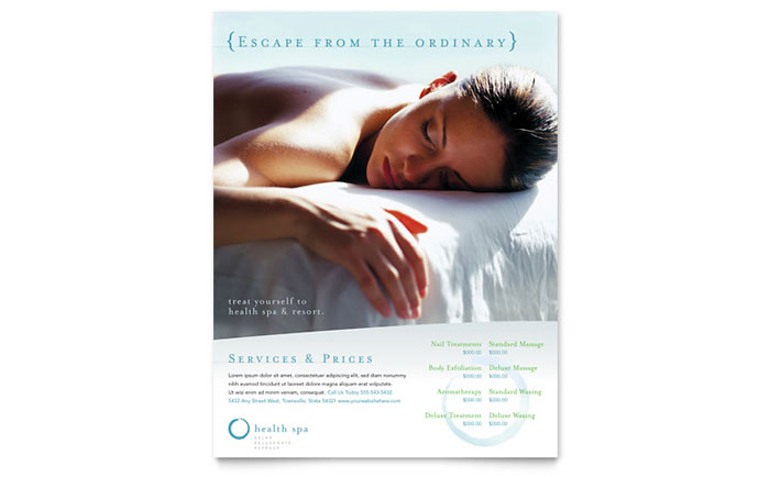 Day Spa & Resort Flyer Template - Word & Publisher