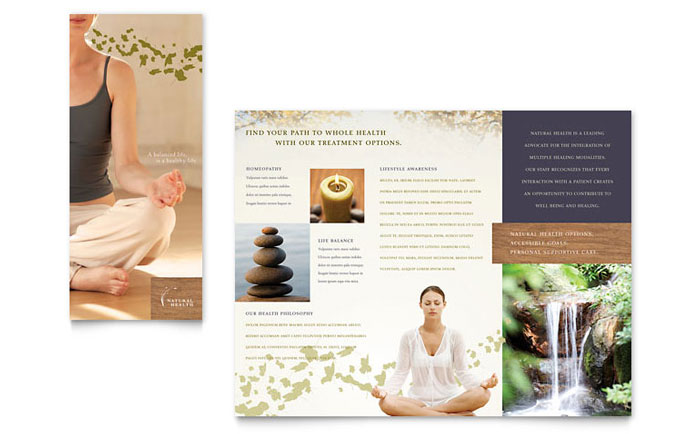 Health Beauty Templates Word Publisher PowerPoint - Spa brochure templates