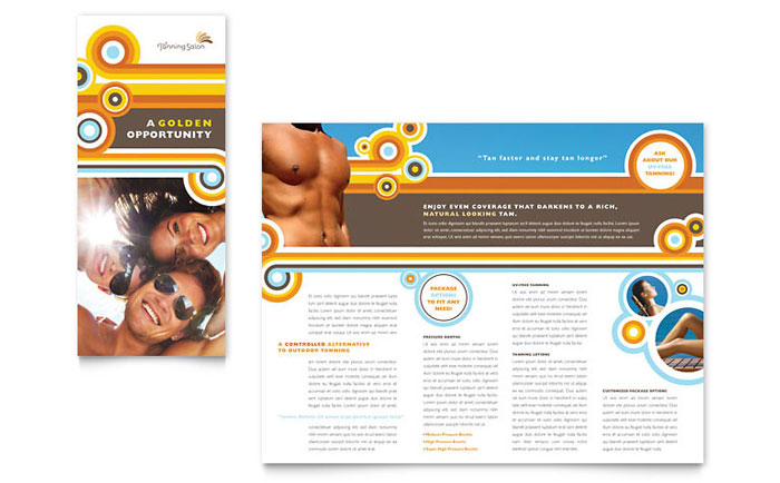 Tanning Salon Brochure Template - Word & Publisher