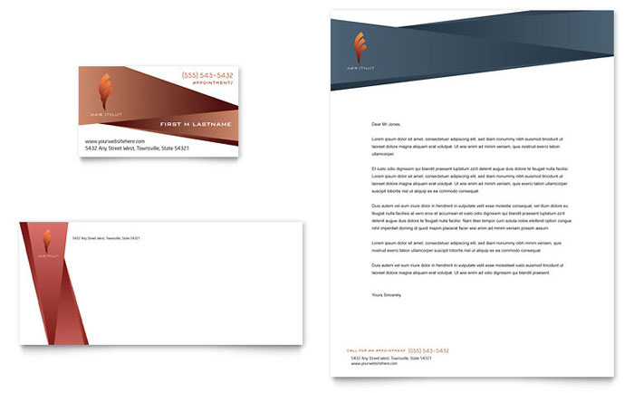 Awesome Business Card U0026 Letterhead Throughout Corporate Word Templates