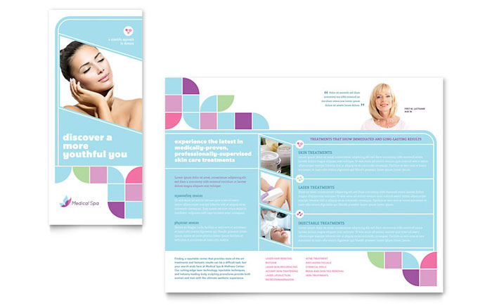 Medical spa brochure template word publisher for Brochure templates for publisher