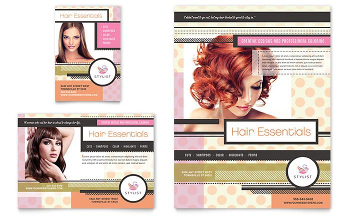 Hairstylist Flyer & Ad Template Download - Word & Publisher - Microsoft Office
