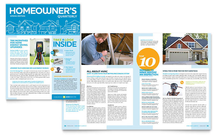 Home Inspection Amp Inspector Newsletter Template Word