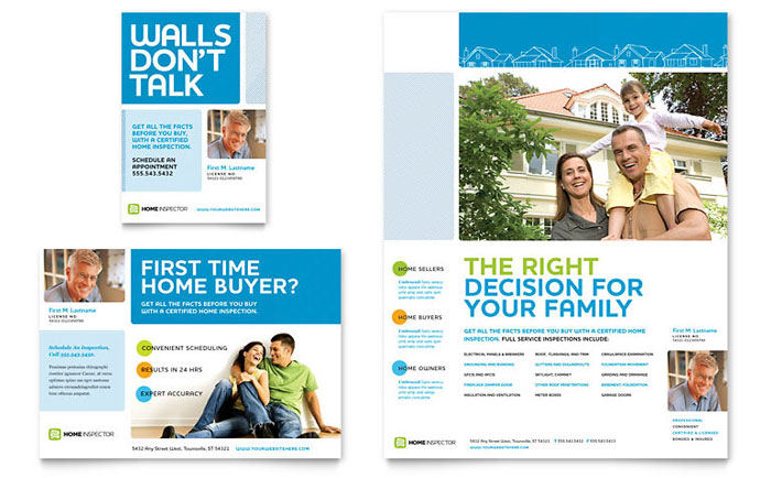 brochure templates in publisher - home inspection inspector flyer ad template word