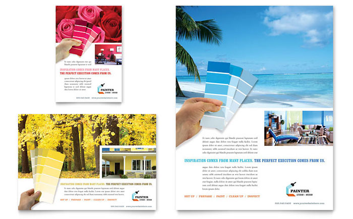 House Painting Contractor Flyer & Ad Template - Word & Publisher