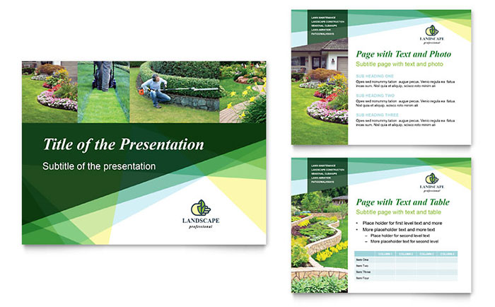 Landscaper PowerPoint Presentation Template - PowerPoint