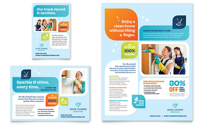 Cleaning Services Flyer & Ad Template - Word & Publisher