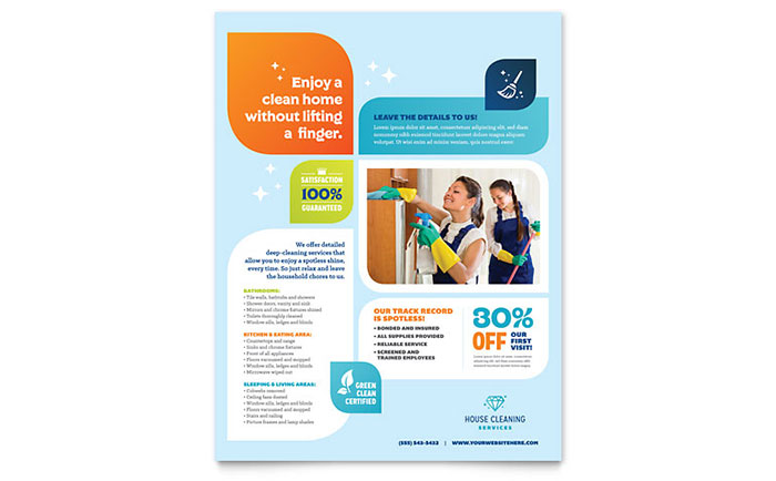 cleaning services flyer template word publisher