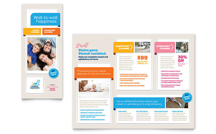 Carpet Cleaning Brochure Template Word Publisher - Brochure publisher template