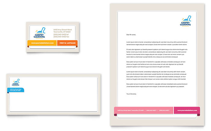 Carpet cleaning business card letterhead template word publisher cheaphphosting Gallery