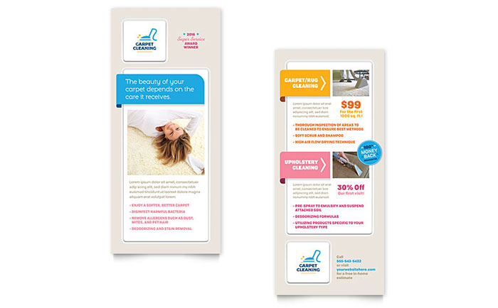 Carpet Cleaning Rack Card Template - Word & Publisher