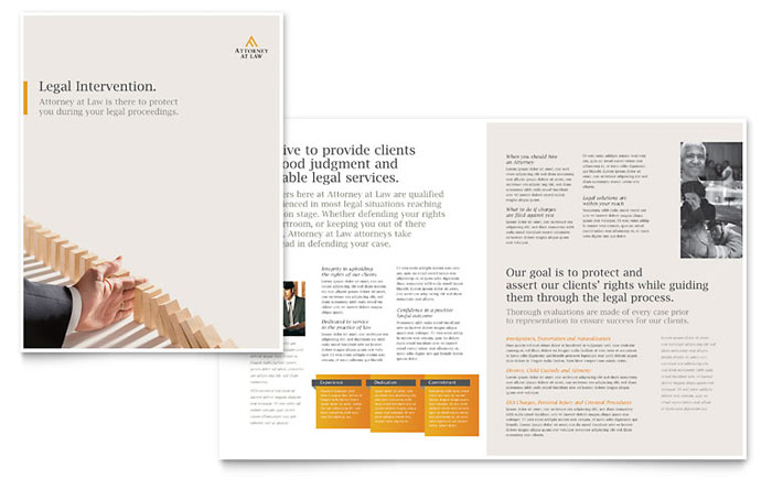 legal advocacy brochure template word publisher