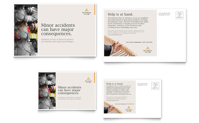 Legal Advocacy Postcard Template Download - Word & Publisher - Microsoft Office