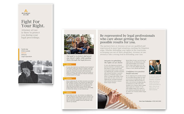 Legal Advocacy Tri Fold Brochure Template Word Publisher