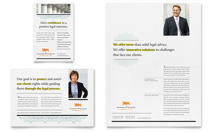 Attorney Flyer & Ad Template - Word & Publisher