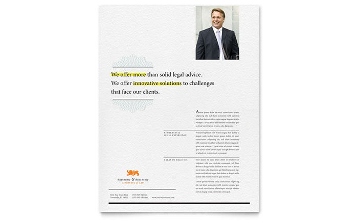 Attorney Flyer Template Download - Word & Publisher - Microsoft Office