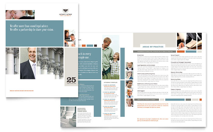 Family Law Attorneys Brochure Template  Word  Publisher