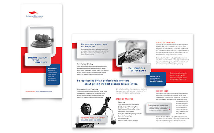 Justice Legal Services Brochure Template - Word & Publisher