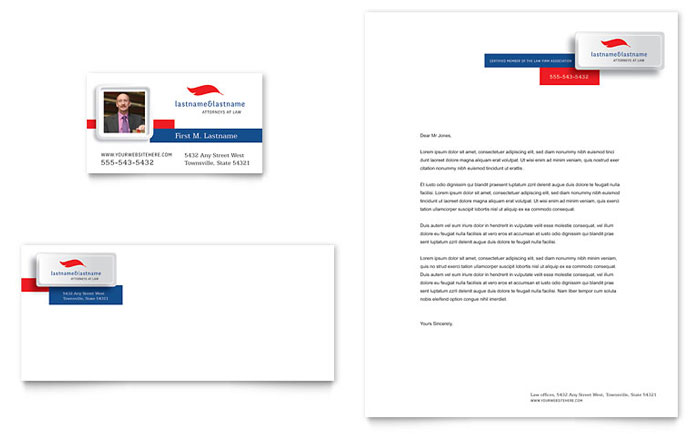 Justice Legal Services Business Card & Letterhead Template - Word & Publisher