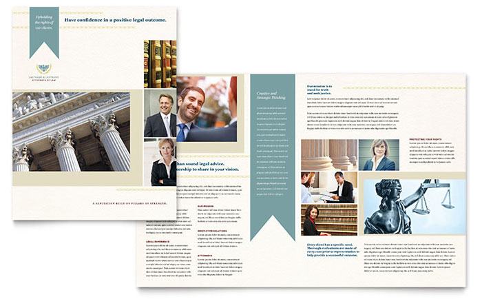 Law Firm Brochure Template - Word & Publisher