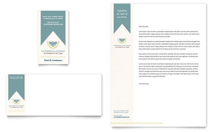 Law Firm Business Card & Letterhead Template Download - Word & Publisher - Microsoft Office