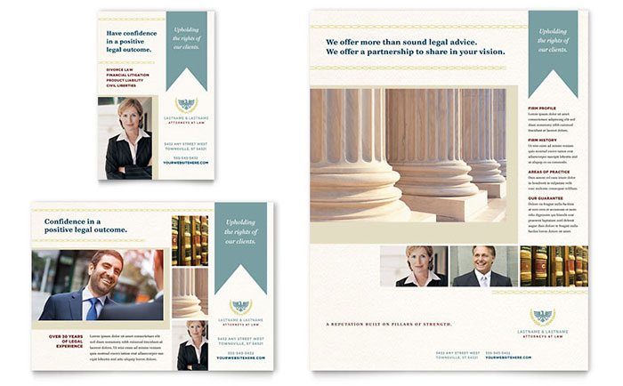 Law Firm Flyer & Ad Template - Word & Publisher