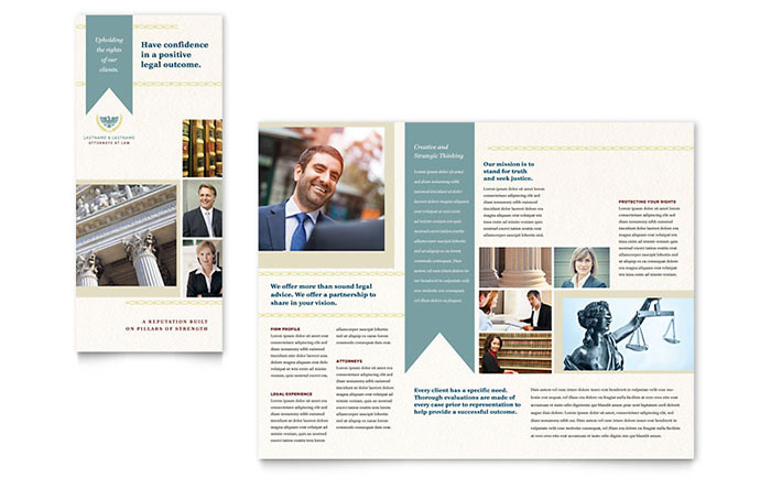 Law Firm Tri Fold Brochure Template - Word & Publisher