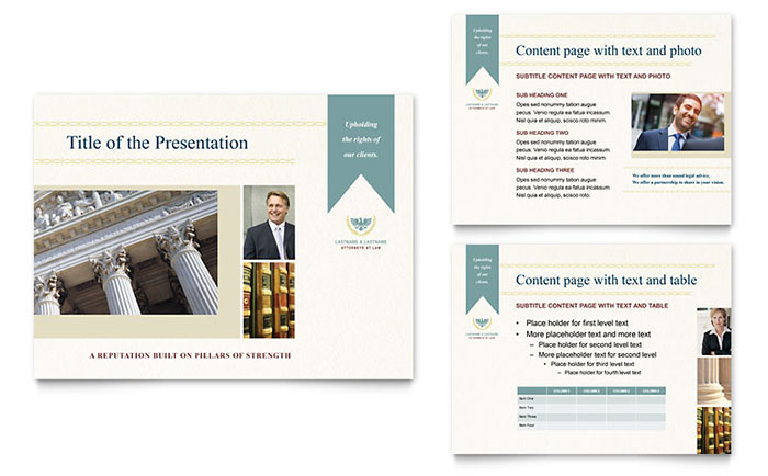 Law Firm PowerPoint Presentation Template - PowerPoint