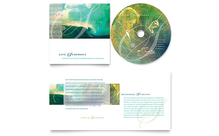 Symphony Orchestra Concert Event CD Booklet Template - Word & Publisher