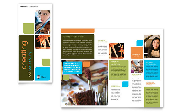 Arts Council & Education Brochure Template - Word & Publisher