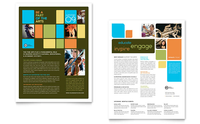 Arts Council Education Datasheet Template Word Publisher .  Free Word Flyer Template