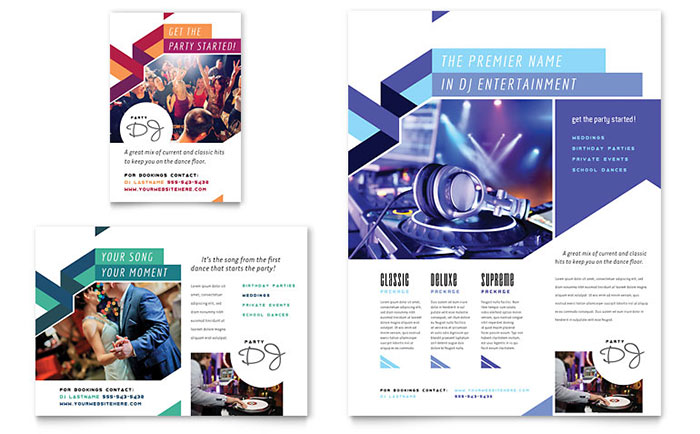 DJ Flyer & Ad Template - Word & Publisher