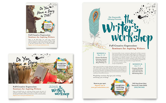 Writer's Workshop Flyer & Ad Template - Word & Publisher