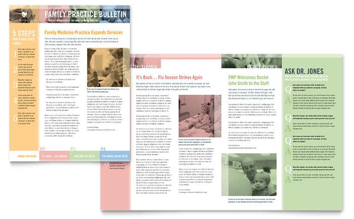 family doctor newsletter template word publisher. Black Bedroom Furniture Sets. Home Design Ideas