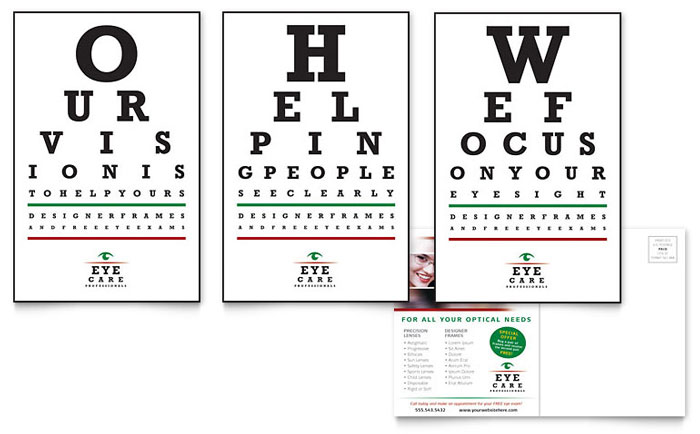 Optometrist & Optician Postcard Template Download - Word & Publisher - Microsoft Office