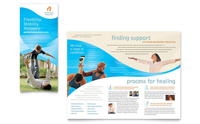 Physical Therapist Brochure Template Download - Word & Publisher - Microsoft Office