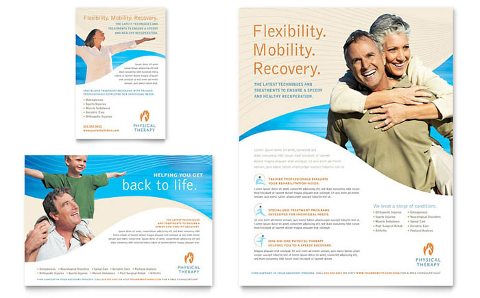 Physical Therapist Flyer & Ad Template Download - Word & Publisher - Microsoft Office