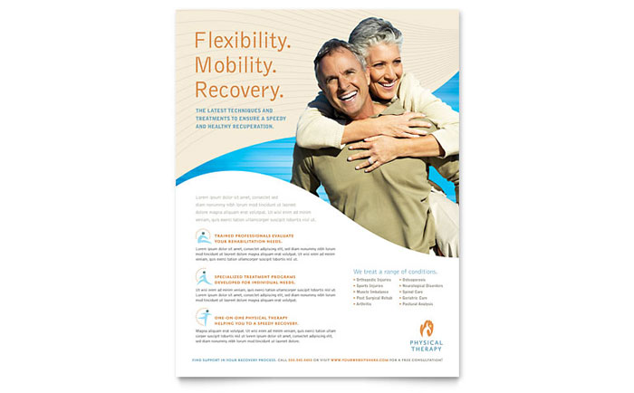 Physical Therapist Flyer Template Download - Word & Publisher - Microsoft Office