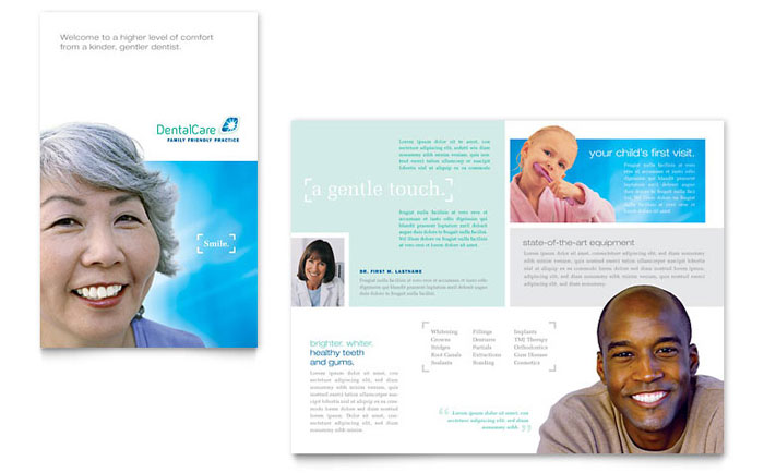 Dental Care Brochure Template - Word & Publisher