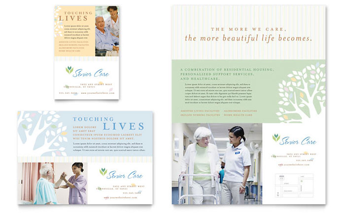 Elder care nursing home flyer ad template word for Nurses week flyer templates