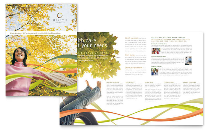 Health Insurance Company Brochure Template Download - Word & Publisher - Microsoft Office