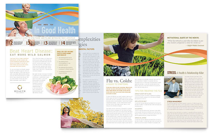 Health Insurance Company Newsletter Template Word Publisher