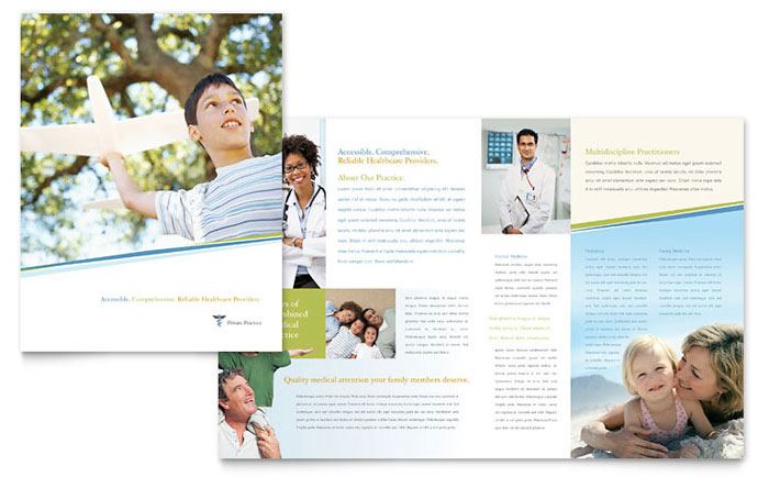 Family physician brochure template word publisher for Clinic brochure template