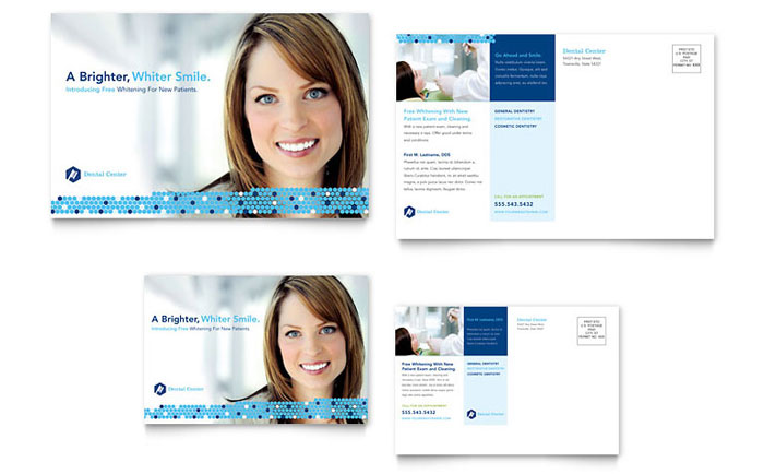 Dentistry Dental Office Postcard Template Word Publisher