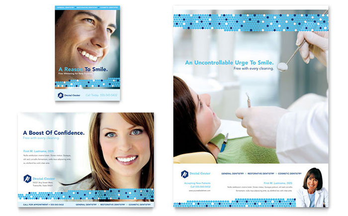 Dentistry & Dental Office Flyer & Ad Template - Word & Publisher